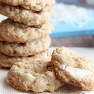 Almond White Chocolate Chunk Oatmeal Cookies