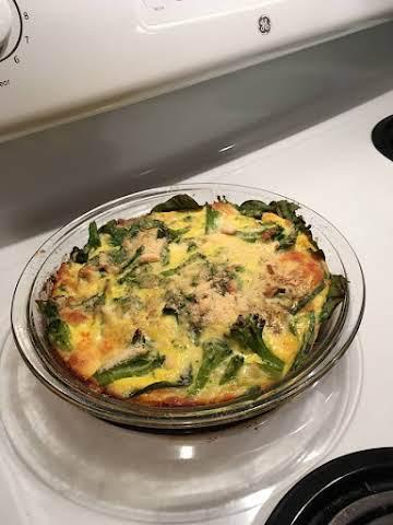Crustless Broccoli and Spinach Quiche
