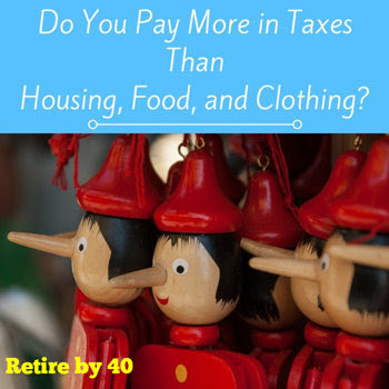 Do you pay more in taxes than housing, food, and clothing?