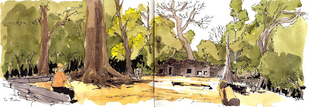 Photo: Siem Reap, Angkor Wat, Cambodia 2014 http://www.parkablogs.com/tags/cambodia-sketching-trip-2014