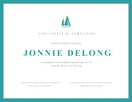 Recognition of Completion - Certificate item