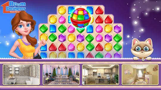 Dream House Designer Match 3 MOD (Gold Coins/Diamonds) 3