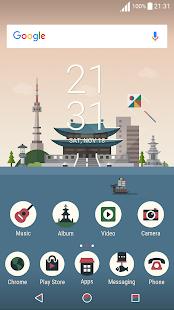 Korea ND Xperia Theme - náhled