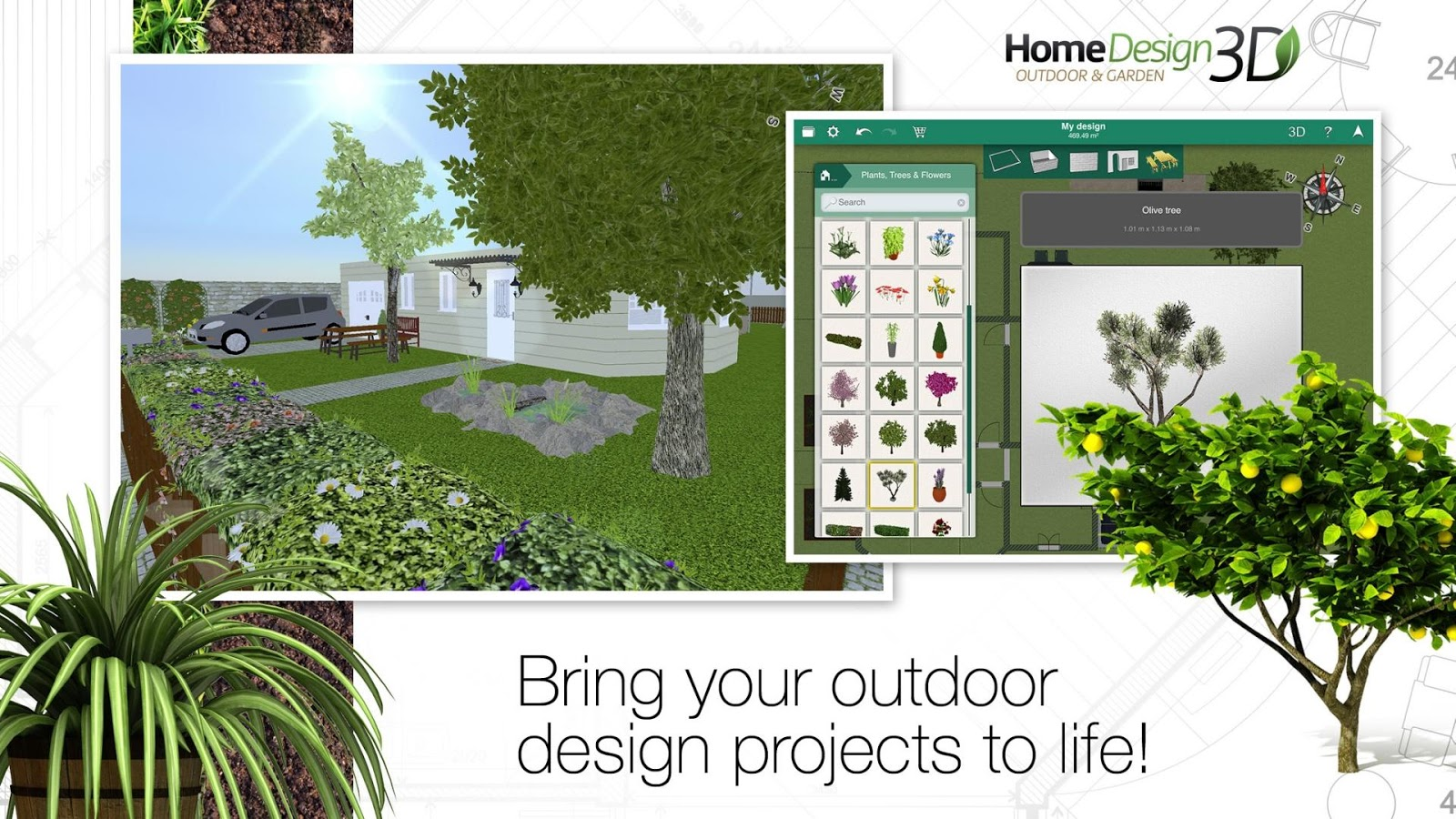 Home design 3d outdoor garden android apps on google play for Home design 3d 5 0 crack