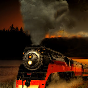 GS4 4-8-4 Southern Pacific Daylight by Nickel Plate Photographics - Transportation Trains