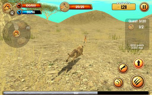 Wild Cheetah Sim 3D apkpoly screenshots 6