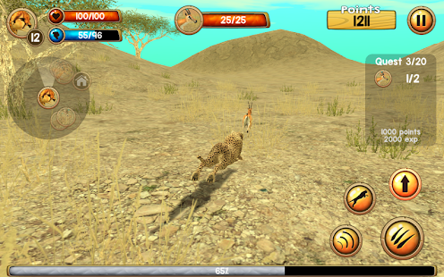 Wild Cheetah Sim 3D- screenshot thumbnail