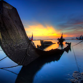 sunsets di kampung nelayan by Gus Mang Ming - Landscapes Sunsets & Sunrises (  )