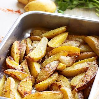 Garlic Parmesan Roasted Potatoes.