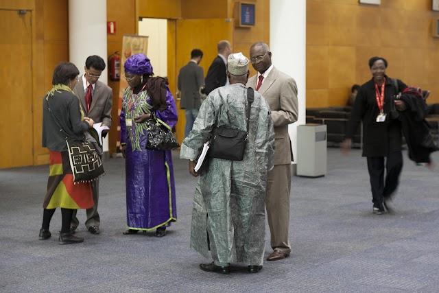 Imagen de empresarios africanos en FITUR 2019. Foto de FITUR.