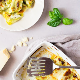 Pesto Provolone Cannelloni Pasta Recipe