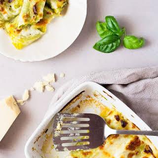 Pesto Provolone Cannelloni Pasta.