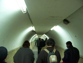 Photo: A tunnel underground.