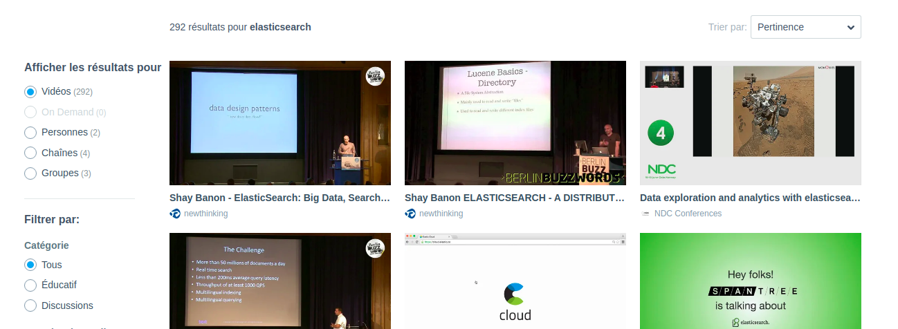 Elasticsearch used for search on Vimeo