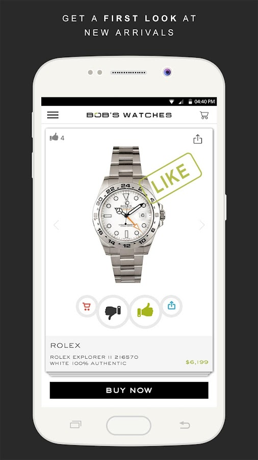 ROLEX - OFFICIAL BOB'S WATCHES- screenshot