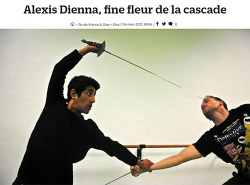 Le Parisien – Escrime Cascade, Alexis DIENNA.
