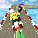 Light Bike Crime Police Chase Game: Real Bike Race icon