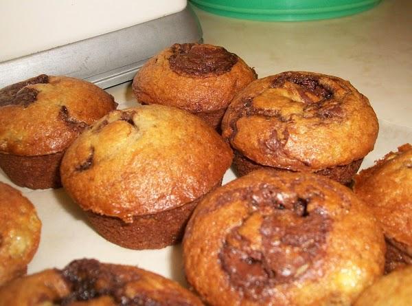 Banana Nutella Swirl Muffins Recipe