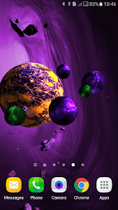 Asteroids 3D live wallpaper screenshot 3