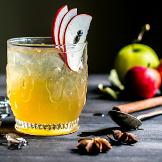Bourbon Apple Cider Shrub Cocktail.
