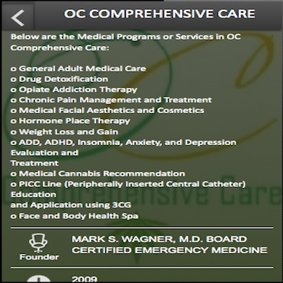 O C COMPREHENSIVE CARE