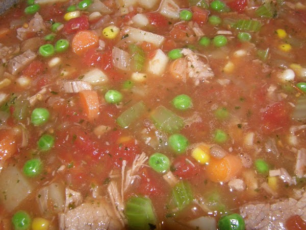 Mom's Beef Vegetable Soup Recipe