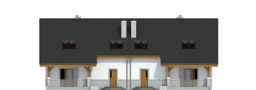 Gajówka bez garażu bliźniak B-BL1 - Elewacja tylna