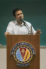 Photo: Dhiraj C Rajaram, founder of Mu Sigma - one of the recruiters at the campus