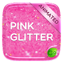 Pink Gold Glitter GO Keyboard Animated Th 4.5 APK Download