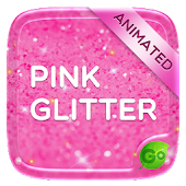 Pink Gold Glitter GO Keyboard Animated Theme