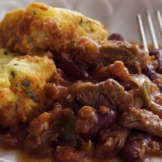 Chili con Carne with Corn Dumplings