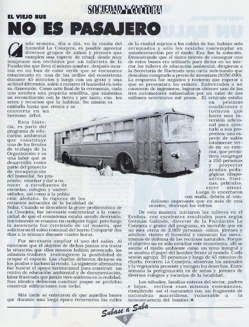 El viejo bus no es pasajero