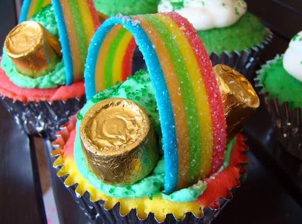 St. Patty's Over The Rainbow Cupcakes Recipe