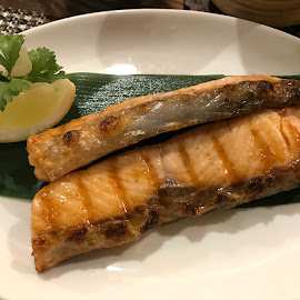 Grilled Salmon by Beh Heng Long - Food & Drink Plated Food ( japanese food )