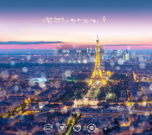 Night in Paris-かわいい壁紙・アイコン-無料