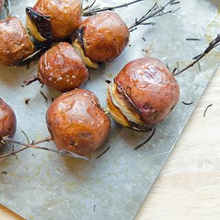 Roasted Rosemary Potato Skewers Recipe
