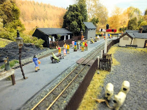Photo: 014 Where Angus Watkins model of the same station features figures in 1900's costume, Nigel Smith's model is populated with modern tourist figures which makes quite a colourful contrast .