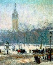 "Photo: Childe Hassam, ""Inverno a Madison Square"" (1890)"