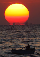 Photo: A fisherman fishes during sunset in the Mediterranean city of Alexandria, 220 km (137 miles) north of Cairo, May 11, 2009. REUTERS/Tarek Mostafa (EGYPT ENVIRONMENT SOCIETY)