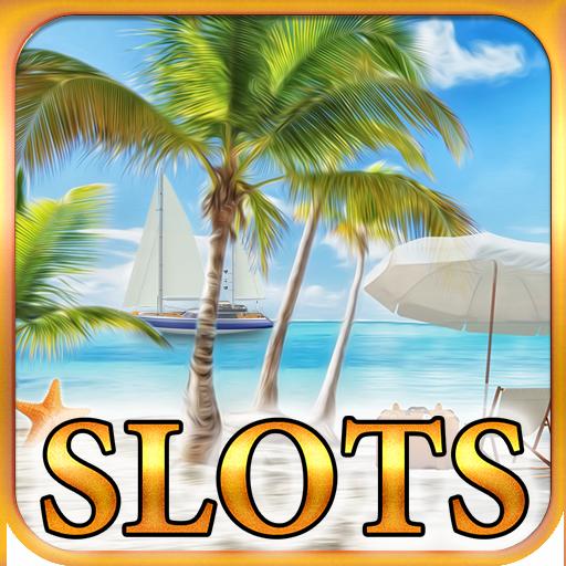 博奕のスロットマシンの休暇の楽園 LOGO-記事Game