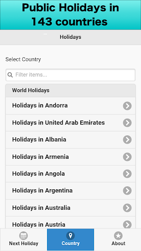World Holiday Calendar 2016