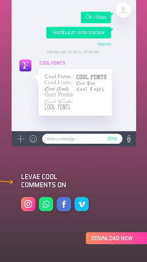 Cool Fonts for Whatsapp & SMS 2.6 screenshots 3