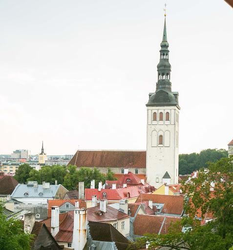 tallinn-cityscape6.jpg - St. Nicholas Church rises over the cityscape of Tallinn, Estonia.