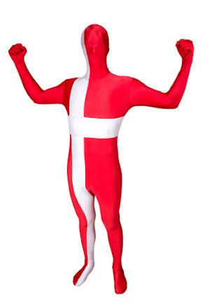 Morphsuit, danska flaggan