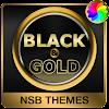 Schwarz Gold Theme für Xperia