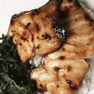 Miso and Soy Chilean Sea Bass.