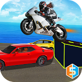 Heavy Bike Traffic Stunts Mania: Auto Racer 3D