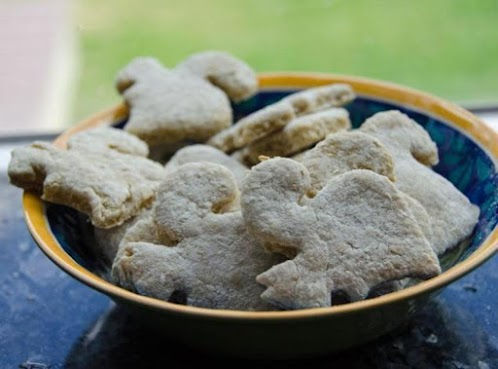 Peachy Squirrel Cookies for the Dog
