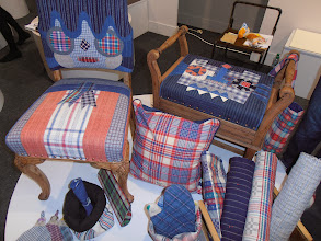 "Photo: Brut Cake's products are made from old antique cloth, mostly from Southeast China, hand-woven with natural cotton. ""Brut"" originated from the Art Brut movement in France; ""Cake"" evokes images of the simple pleasures and happiness in life. www.brutcake.com #ambiente14"