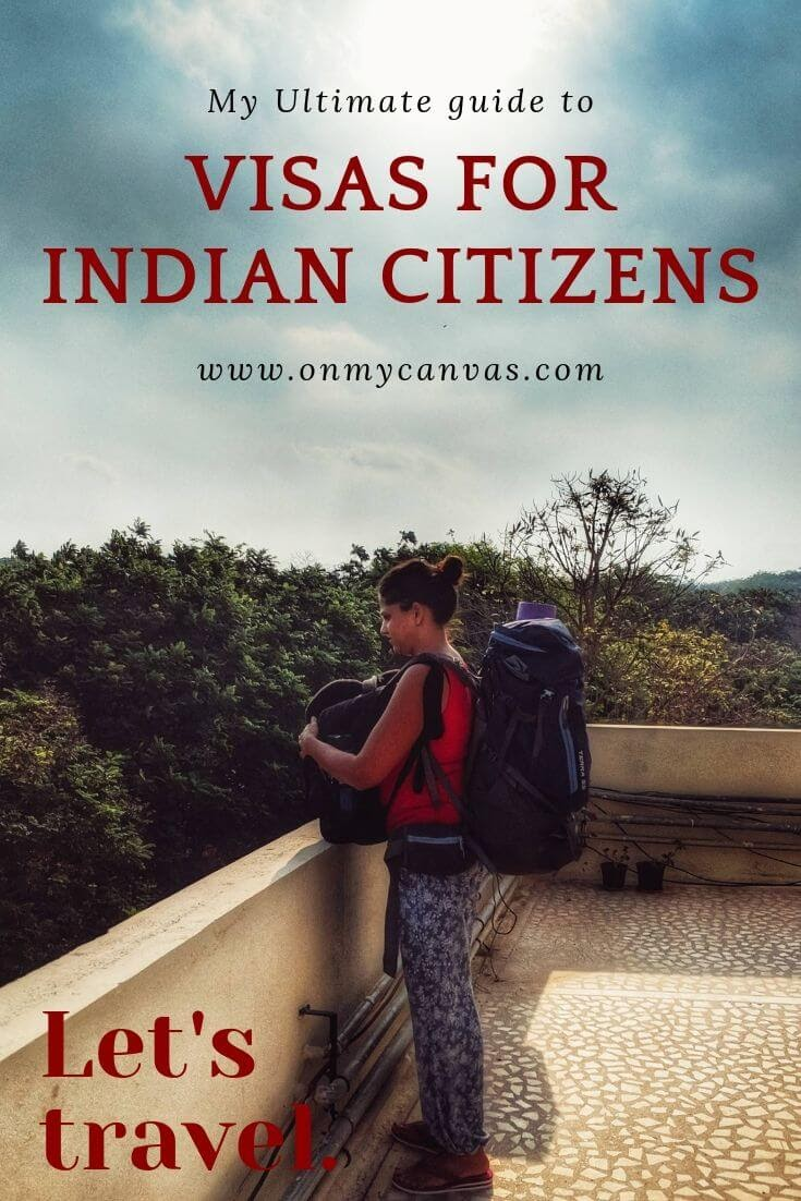 pinterest image for the article visas for indian citizens